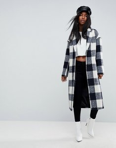 Read more about Asos check slim coat with pocket detail - multi