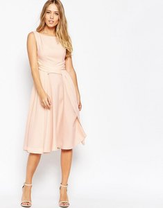 Read more about Asos wedding soft midi prom dress - nude