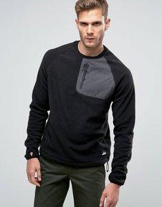 Read more about Penfield carney polar fleece sweatshirt in black - black