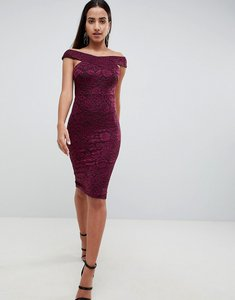Read more about Ax paris lace pencil dress - plum