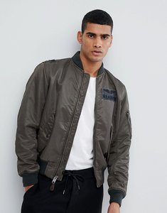 Read more about Polo ralph lauren nylon military logo bomber jacket in washed green - green grey