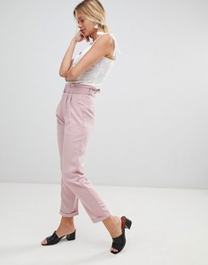 Read more about Glamorous trousers with d-ring belt - light pink