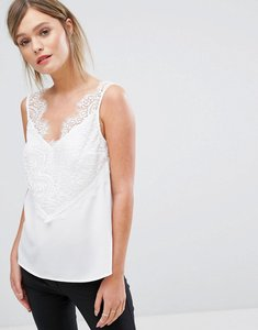 Read more about French connection sleeveless lace detail cami - winter white