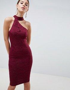 Read more about Ax paris cut out detail lace midi dress - plum