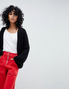 Read more about Asos oversized chunky cardigan - black