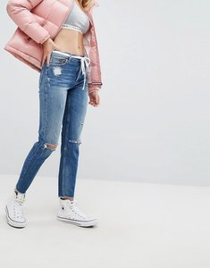 Read more about Tommy jeans izzy high rise with ripped knee - midwash denim