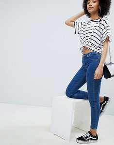 Read more about Bershka skinny push-up jean - mid blue