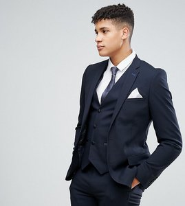 Read more about Harry brown tall plain stretch slim suit jacket - navy