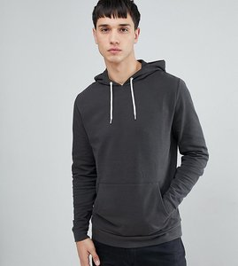 Read more about Asos tall hoodie in washed black - bal