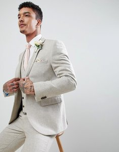 Read more about Harry brown wedding donegal skinny fit suit jacket - oatmeal