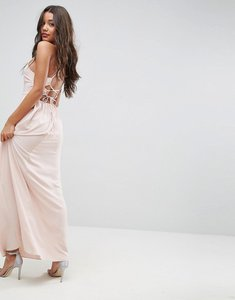 Read more about Asos maxi dress with strappy back detail - blush