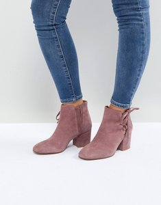 Read more about Hudson london else pink suede ankle boots - blush