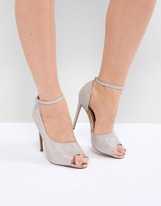 Read more about Asos design pippin high heels - rose gold