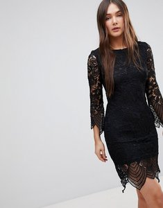 Read more about Glamorous lace shift dress - black