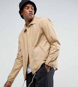 Read more about Herschel voyage packable coach jacket in beige exclusive at asos - incense