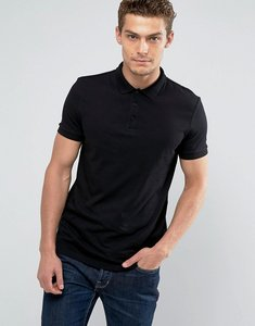 Read more about Asos polo shirt in jersey in black - black