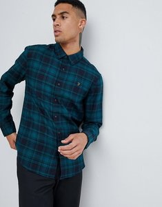 Read more about Farah eader check shirt in teal - blue