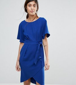 Read more about Closet london tie front dress with kimono sleeve - cobalt