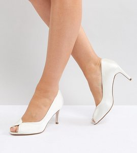 Read more about Asos summer wide fit mid heels bridal - ivory