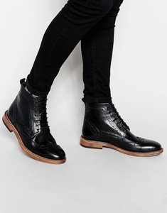 Read more about Kg by kurt geiger brogue boots - black