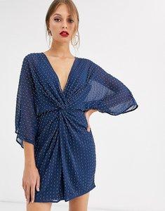 Read more about Asos design kimono mini dress in linear sequin