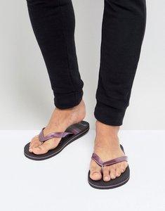 Read more about Brave soul snake flip flops - black