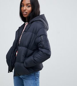 Read more about Brave soul tall karen padded coat with hood - black black