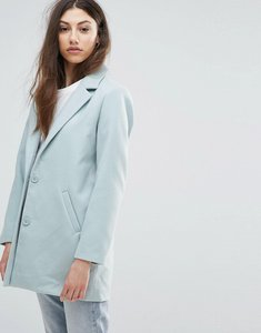 Read more about Noisy may colouring oversized coat - blue surf