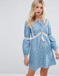 Read more about Rage tassle detail floral dress - blue