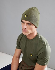 Read more about Lyle scott fitness logo beanie in green - olive