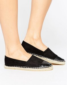 Read more about London rebel flat espadrilles - black micro