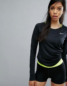 Read more about Nike running dry miler long sleeve top - black