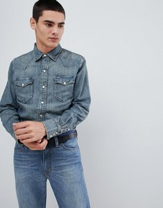 0f6601b2e Read more about Polo ralph lauren slim fit denim western shirt in mid wash