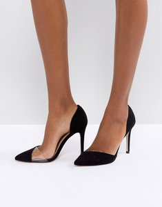 Read more about Miss kg two part perspex detail point high heels - black micro perspex