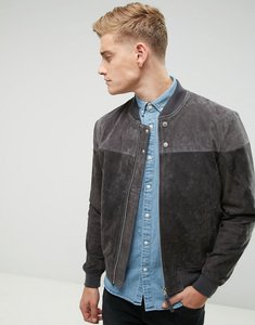 Read more about Esprit suede bomber jacket - grey 030