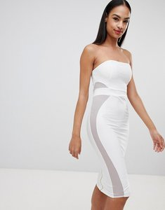 Read more about Missguided bandeau bandage dress - white