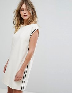 Read more about French connection sporty luna stretch shift dress - classic cream