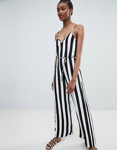 Read more about New look stripe strappy jumpsuit - black pattern