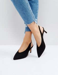 Read more about Asos swift slingback kitten heels - black