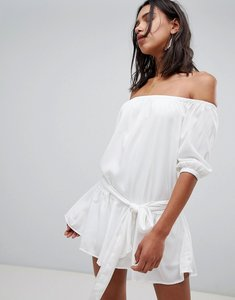 Read more about Vero moda off the shoulder dress - white