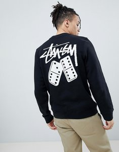 Read more about Stussy sweatshirt with domino back print - black