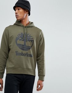 Read more about Timberland overhead hoodie stacked logo in olive green - olive night