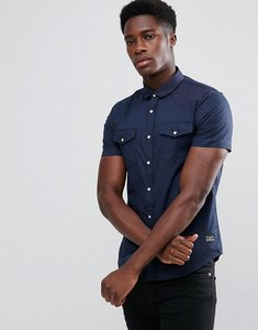 Read more about Brave soul double pocket short sleeve shirt - navy