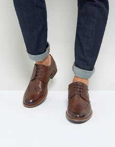 Read more about Silver street smart brogues in brown leather - brown