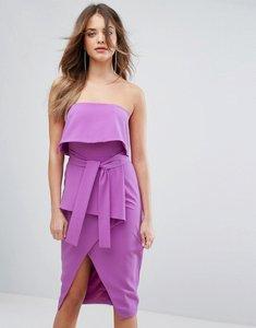 Read more about Lavish alice bandeau tie midi dress - bright purple