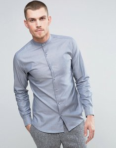 Read more about Selected homme slim grandad shirt - ombre blue