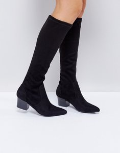 Read more about Asos cruise knee boots - black