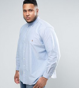 Read more about Polo ralph lauren plus oxford shirt slim fit buttondown in blue - blue