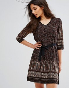 Read more about Brave soul petra border print dress - tapue burnt orange