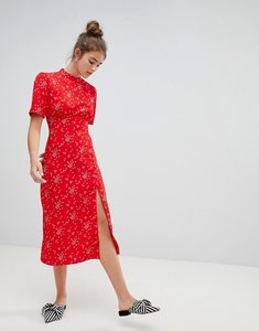 Read more about Asos design midi tea dress with buttons in star print - multi
